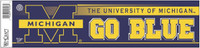 "University of Michigan Wincraft ""Go Blue"" Bumper Sticker"