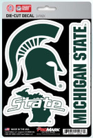 Michigan State University Team ProMark Die-Cut Decal 3-Pack