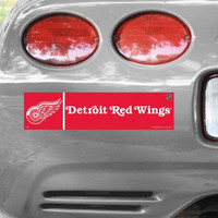 Detroit Red Wings Wincraft Primary Bumper Sticker
