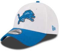 Detroit Lions Men's New Era 39Thirty NFL154 White Training Camp Flex Hat