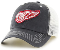 Detroit Red Wings Men's 47 Brand Charcoal Taylor  Closer Mesh Hat