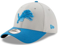 Detroit Lions Men's New Era Gray/Blue Team Classic 39THIRTY Flex Hat