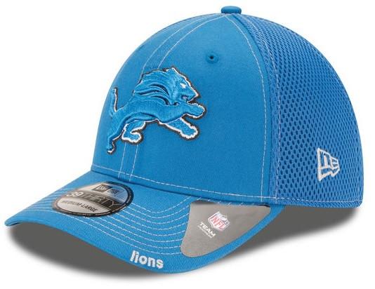 Detroit Lions Men s New Era Neo 39THIRTY Flex Hat - Blue - Detroit ... 1ef34218d77
