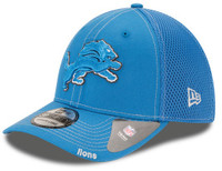 Detroit Lions Men's New Era Neo 39THIRTY Flex Hat - Blue