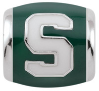 Michigan State University Teagan Collection by persona White Spartan Block S/Green Charm