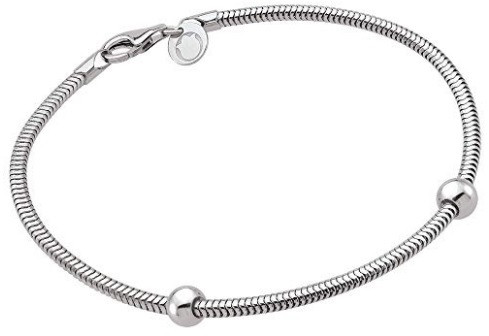 5d8d0fc94 Teagan Collection by persona Sterling Silver Charm Snake Bracelet ...