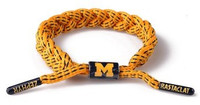 University of Michigan Rastaclat Maize Braided Shoelace Bracelet