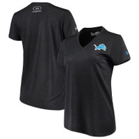 Detroit Lions Women's Under Armour Combine Authentic Novelty Performance V-Neck T-Shirt - Black