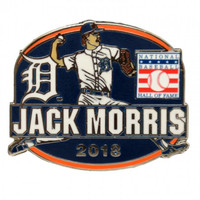 Detroit Tigers Jack Morris Baseball Hall of Fame 2018 Induction Collector Pin