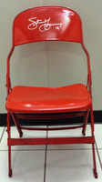 Steve Yzerman Autographed Joe Louis Arena Original Metal Folding Chair