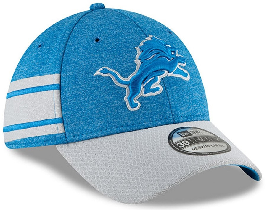f3645966812 ... Detroit Lions Men s New Era Blue Gray 2018 NFL Sideline Home Official  39THIRTY Flex Hat. Loading zoom
