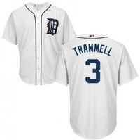 Detroit Tigers Majestic Home Replica Cool Base Jersey - Alan Trammell #3
