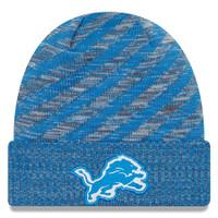 Detroit Lions Men's New Era Blue 2018 NFL Sideline Cold Weather Official TD Knit Hat