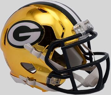 Green Bay Packers Riddell 2018 Chrome Speed Mini Football Helmet Detroit City Sports