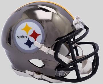 452c8292 Pittsburgh Steelers Riddell 2018 Chrome Speed Mini Football Helmet