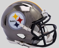 Pittsburgh Steelers Riddell 2018 Chrome Speed Mini Football Helmet