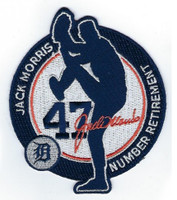 Detroit Tigers Jack Morris #47 Jersey Number Retirement Patch