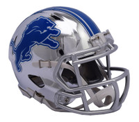Kerryon Johnson Autographed Detroit Lions Chrome Mini Helmet (Pre-Order)