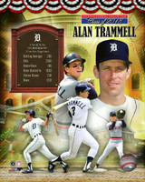 Alan Trammell Autographed 8x10 Photo #5 - HOF Composite (Pre-Order)