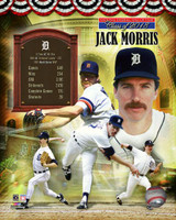 Jack Morris Autographed 8x10 Photo #3 -HOF Composite (Pre-Order)