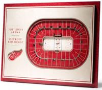 Detroit Red Wings YouTheFan 5-Layer Stadiumview 3D Wall Art - Joe Louis Arena