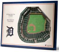 Detroit Tigers YouTheFan 5-Layer Stadiumview 3D Wall Art - Comerica Park