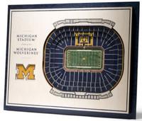 University of Michigan YouTheFan 5-Layer Stadiumview 3D Wall Art - The Big House