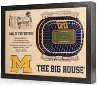 University of Michigan YouTheFan 25-Layer Stadiumview 3D Wall Art - The Big House