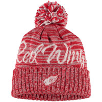 Detroit Red Wings Adidas Women's Freehand Pom Cuffed Knit Hat – Red