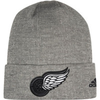 Detroit Red Wings Adidas India Cuffed Knit Hat – Charcoal