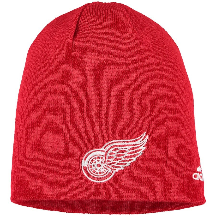 Detroit Red Wings Adidas Core Knit Beanie – Red - Detroit City Sports bcd2aa11962