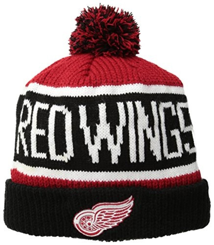 cb7291bfd62 ... Detroit Red Wings 47 Brand Calgary Knit Hat With Pom. Image 1. Loading  zoom