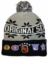 Original Six 47 Brand Rink Cuffed Knit Hat With Pom