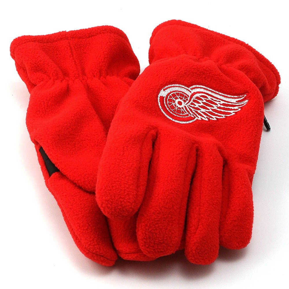 0849b3e9e0b Home · Hats  Detroit Red Wings Adidas Red Fleece Gloves. Image 1. Loading  zoom