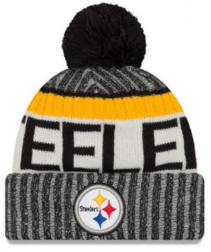 f32df10cda8 Pittsburgh Steelers New Era 2017 Sideline Sport Knit Cap - Detroit ...