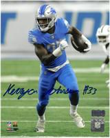 Kerryon Johnson Autographed Detroit Lions 8x10 #3 - 1st NFL Game