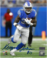 Kerryon Johnson Autographed Detroit Lions 8x10 #2 - Home Action