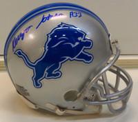 Kerryon Johnson Autographed Detroit Lions Mini Helmet