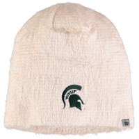 Michigan State University Top of the World Fluffy Monster Knit Hat