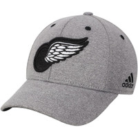 Detroit Red Wings Men's Adidas Charcoal Hotel Structured Flex Hat
