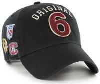 Original Six 47 Brand NHL Black Rink Clean Up Adjustable Hat