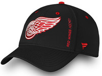 Detroit Red Wings Men's Fanatics Black Authentic Pro Rinkside Speed Flex Hat