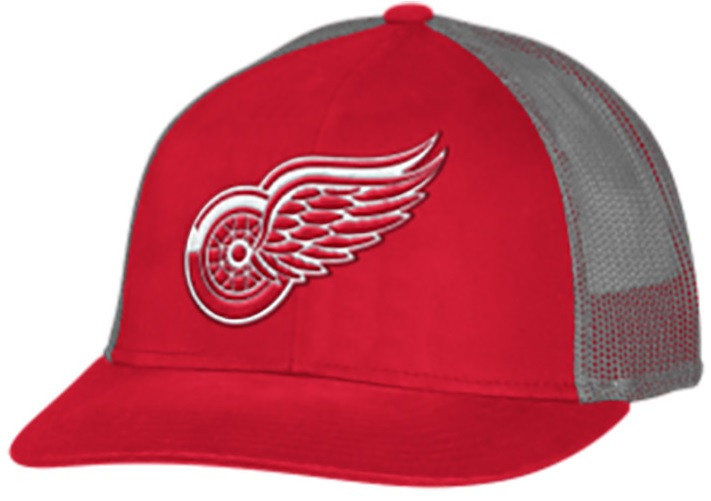 42ce3a9cee ... Wings Adidas Men s Red Trucker Mesh Adjustable Hat. Image 1. Loading  zoom