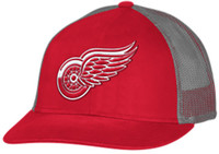 Detroit Red Wings Adidas Men's Red Trucker Mesh Adjustable Hat