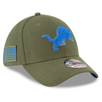 Detroit Lions New Era 2018 Salute To Service Sideline 39THIRTY Flex Hat – Olive