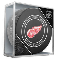 Dennis Cholowski Autographed Detroit Red Wings Game Puck (Pre-Order)