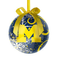 University of Michigan Topperscot Decoupage Ball Ornament