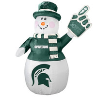 Michigan State University Boelter 7' Inflatable Snowman