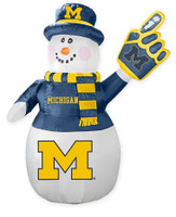 University of Michigan Boelter 7' Inflatable Snowman
