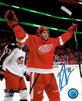Dennis Cholowski Autographed 8x10 Photo #1 - 1st NHL Goal Celebration